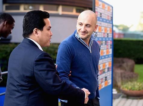 Erick Thohir e Piero Ausilio