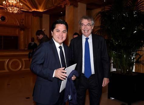 Massimo Moratti con Erick Thohir