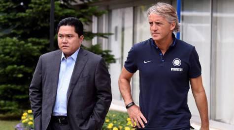 Erick Thohir con Roberto Mancini