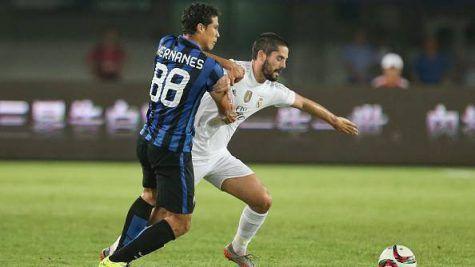 Hernanes in Inter-Real Madrid 0-3