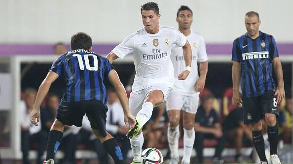 Kovacic contro C.Ronaldo in Inter-Real Madrid 0-3
