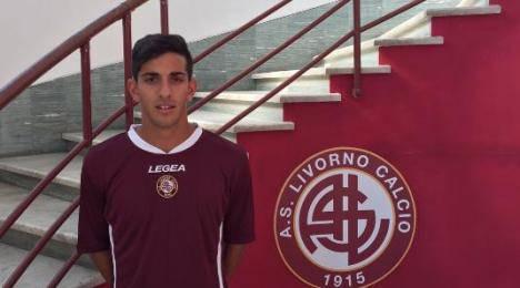 Andrea Palazzi con la maglia del Livorno (livornocalcio.it)
