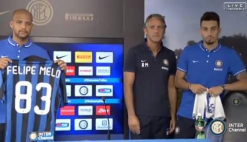 Melo, Telles e Mancini in conferenza stampa