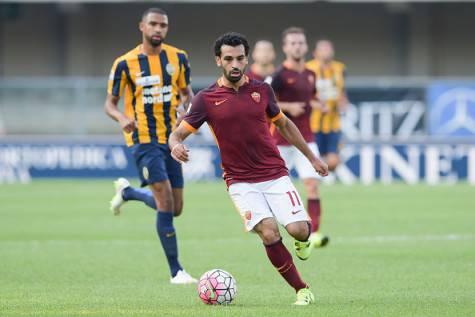 Salah in azione con la maglia della Roma