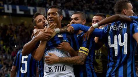 Guarin festeggia dopo il gol nel derby