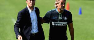 Zanetti con Mancini alla Pinetina ©Getty Images