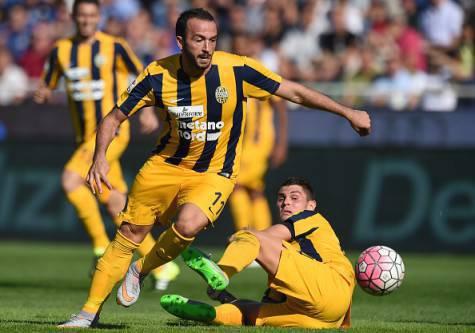 Giampaolo Pazzini con la maglia dell'Hellas Verona