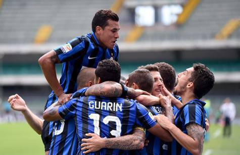 I giocatori dell'Inter