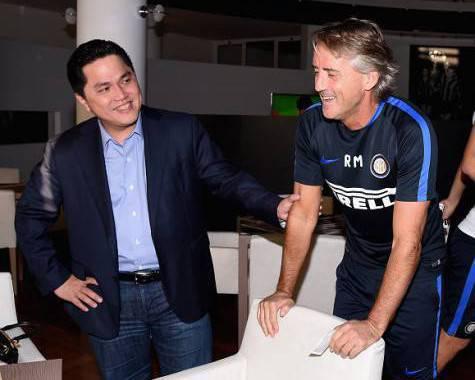 Erick Thohir con Roberto Mancini ©Getty Images
