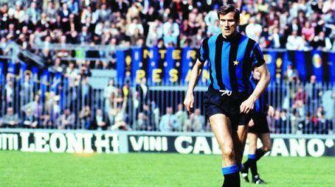 Giacinto Facchetti ai tempi dell'Inter