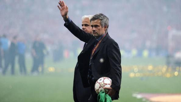 22 maggio 2010 - José Mourinho dopo la finale di Champions vinta con l'Inter