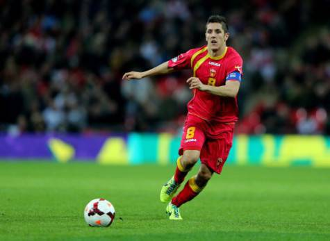 Stevan Jovetic in azione col Montenegro