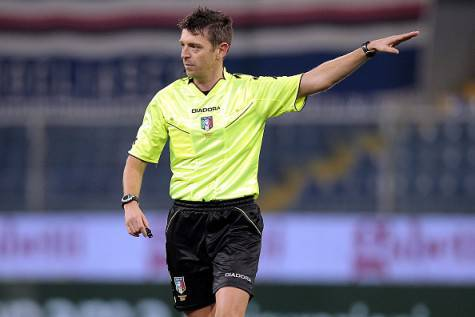 Serie A, Gianluca Rocchi arbitra Inter-Napoli ©Getty Images