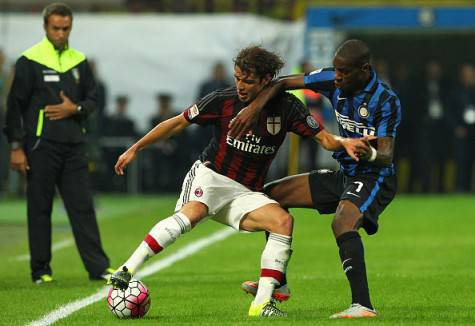 Kondogbia contro Poli in Inter-Milan