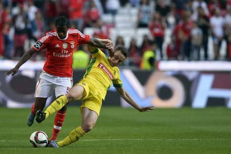 Nelson Semedo in azione con la maglia del Benfica