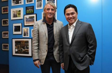 Erick Thohir e Roberto Mancini (Getty Images)