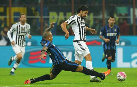 Inter-Juventus 0-0, Felipe Melo in scivolata su Khedira