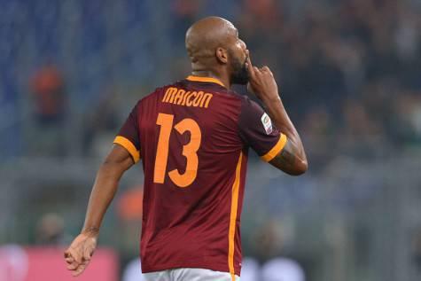 Inter, Maicon la maglia della Roma ©Getty Images