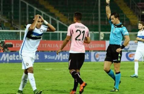 Palermo-Inter 1-1, Doveri espelle Murillo ©Getty Images