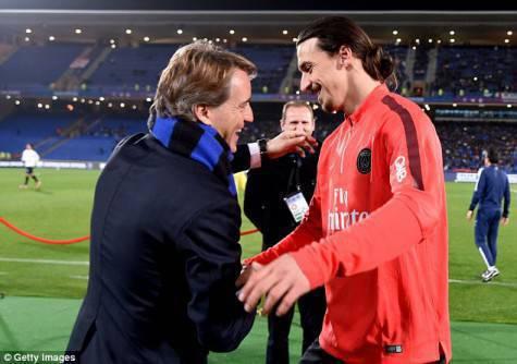 Mancini e Ibrahimovic / Getty Images