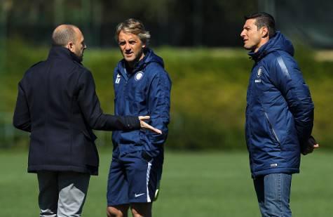 Ausilio, Zanetti e Mancini alla Pinetina