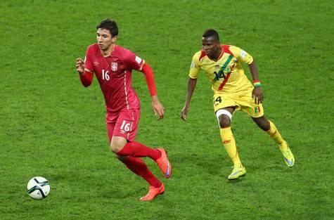 Marko Grujic in azione con la maglia della Serbia under 20