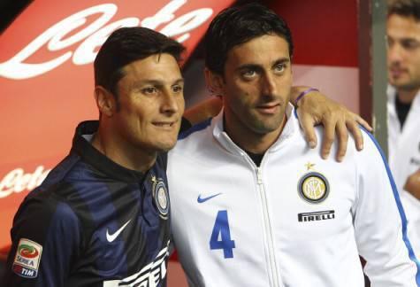 Inter, Diego Milito con Zanetti ©Getty Images