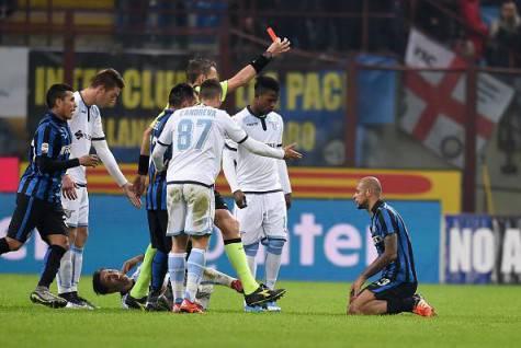 Felipe Melo espulso contro la Lazio ©Getty Images