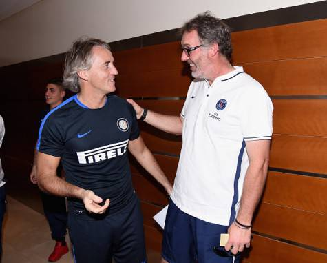 Laurent Blanc con Roberto Mancini (Getty Images)