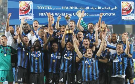 L'Inter festeggia il Mondiale per Club 2010