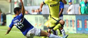 Pereira contro Telles in Sampdoria-Inter ©Getty Images
