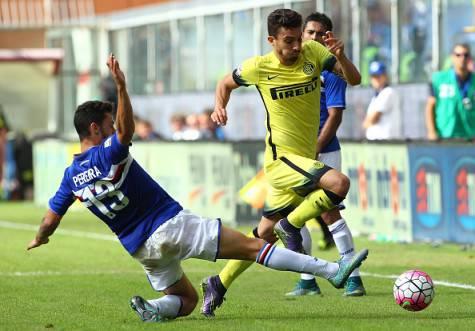 Pereira contro Telles in Sampdoria-Inter ©Getty Images