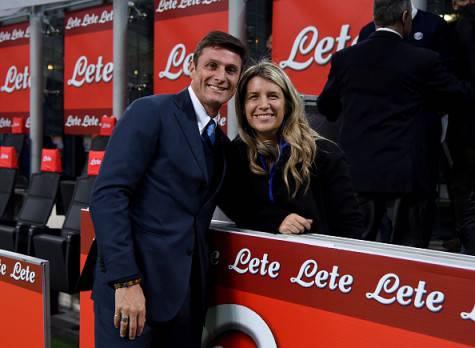 Inter, Javier Zanetti a San Siro con la moglie Paula ©Getty Images