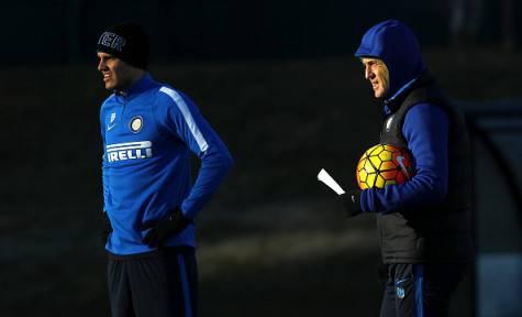 Icardi e Mancini alla Pinetina ©Getty Images