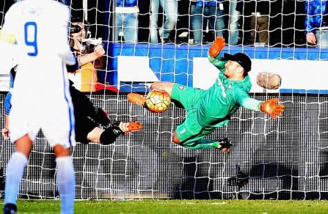 Atalanta-Inter 1-1, l'intervento di Handanovic su Cigarini ©Getty Images