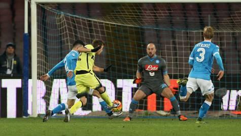 Napoli-Inter 0-2, il raddoppio di Ljajic ©Getty Images