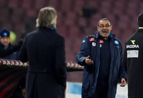 Napoli-Inter 0-2, battibecco Sarri-Mancini ©Getty Images