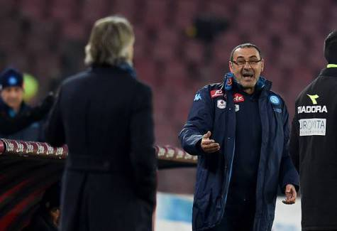Napoli-Inter 0-2, battibecco Sarri-Mancini ©Getty Images