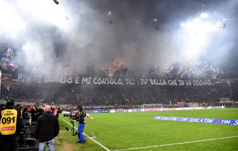 Curva Nord nel derby ©Getty Images
