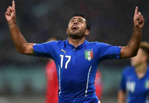 Eder con la maglia della Nazionale italiana