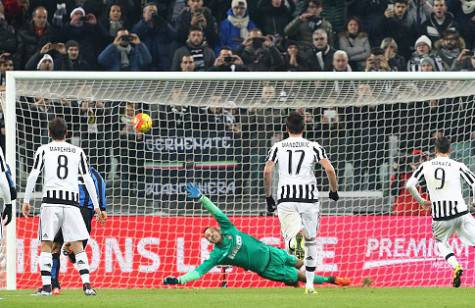 Morata batte Handanovic dal dischetto (Getty Images)