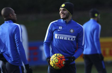 Icardi alla Pinetina durante l'allenamento ©inter.it