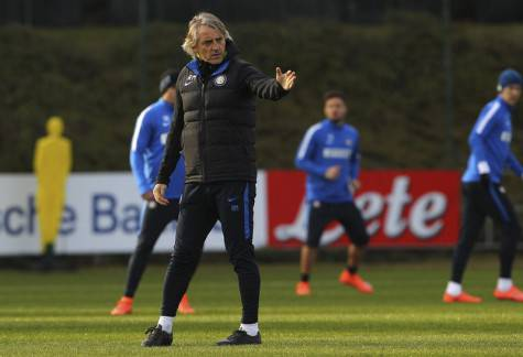 Inter, Mancini alla Pinetina durante l'allenamento ©inter.it