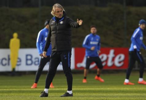 Inter, Mancini alla Pinetina durante l'allenamento ©inter.it