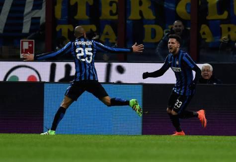 D'Ambrosio e Miranda esultano (Inter.it)