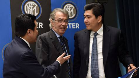 Moratti con Thohir e Soetedjo al CdA dell'Inter ©Getty Images