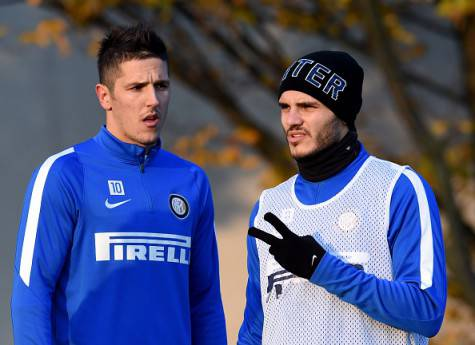 Icardi e Jovetic alla Pinetina ©Getty Images