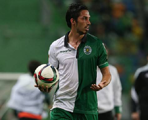 Schelotto in azione con la maglia dello Sporting Lisbona ©Getty Images