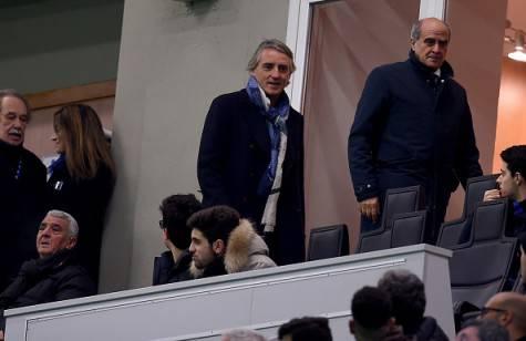 Inter, Mancini si accomoda in tribuna perché squalificato ©Getty Images