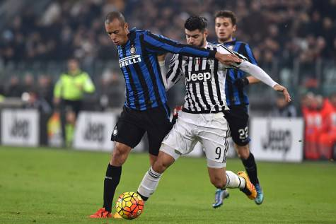 Miranda contro Morata in Juventus-Inter di Coppa Italia ©Getty Images